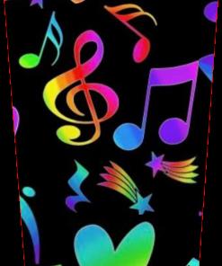 Rainbow Notes and Stars